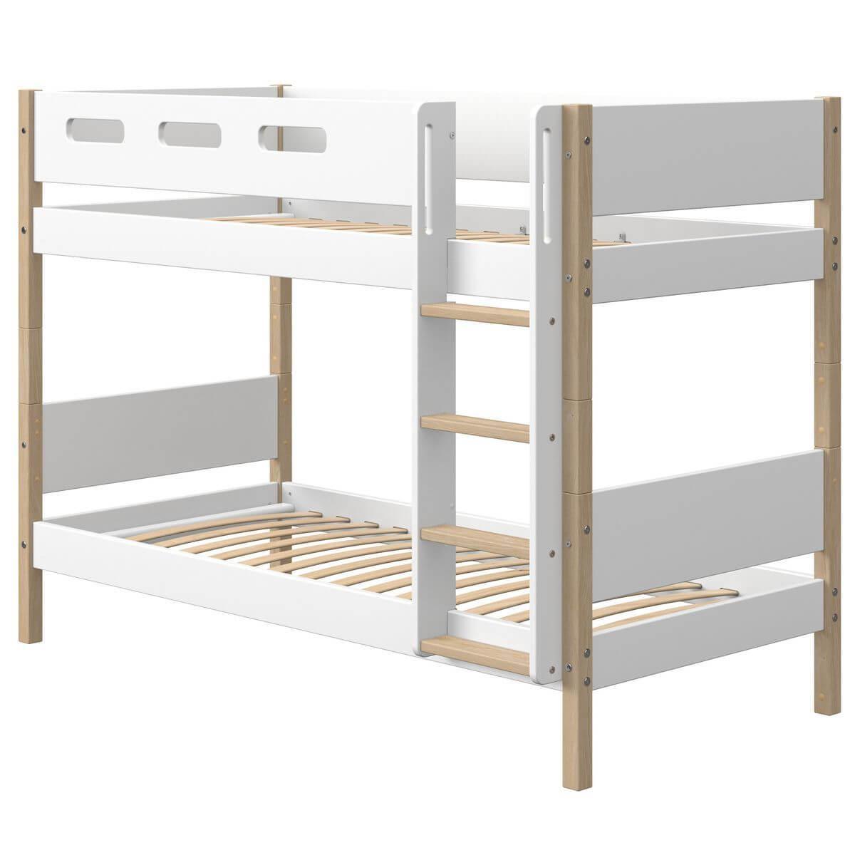 Etagenbett mitwachsend 90x200cm NOR Flexa Eiche-weiß
