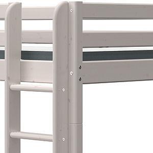 Etagenbett XL 90x190cm gerade Leiter CLASSIC grey washed