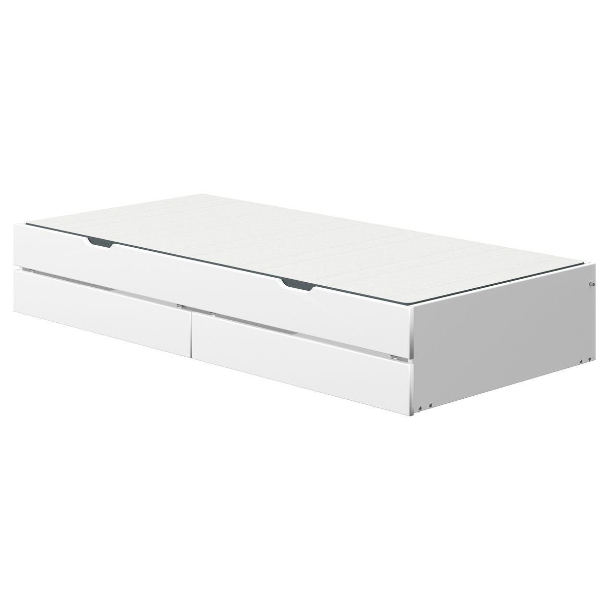 Gästebett-2 Schubladen 190cm NOR Flexa weiß