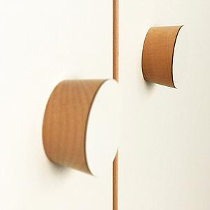große Tür DECOR Debreuyn - Melamin weiß mit Buchenkante