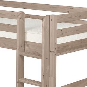 Halbhohes Bett 90x200 cm + gerade Leiter CLASSIC by Flexa terra