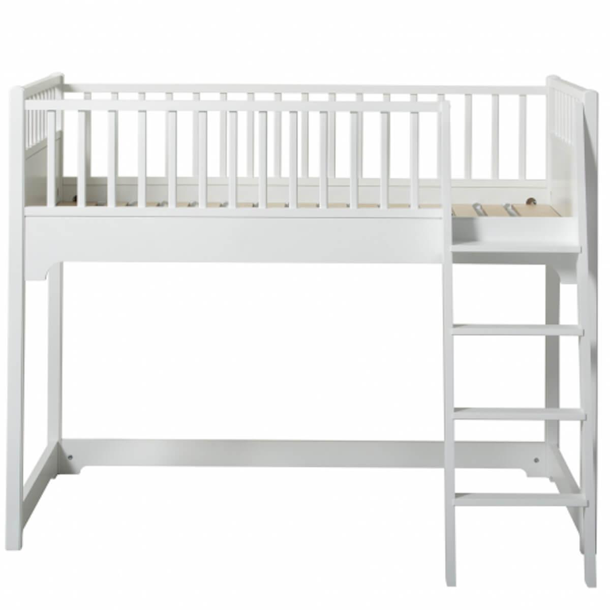 Halbhohes Bett junior 90x160cm SEASIDE CLASSIC Oliver Furniture Weiß
