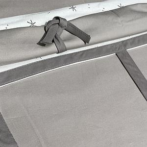 Hochbett-Dach hoch KASVA mit Textilien Viena grey