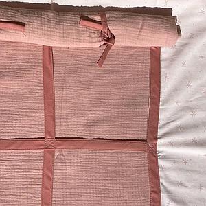 Hochbett KASVA mit Textilien Bobble pink