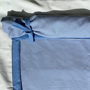 Hochbett KASVA mit Textilien Viena green and blue