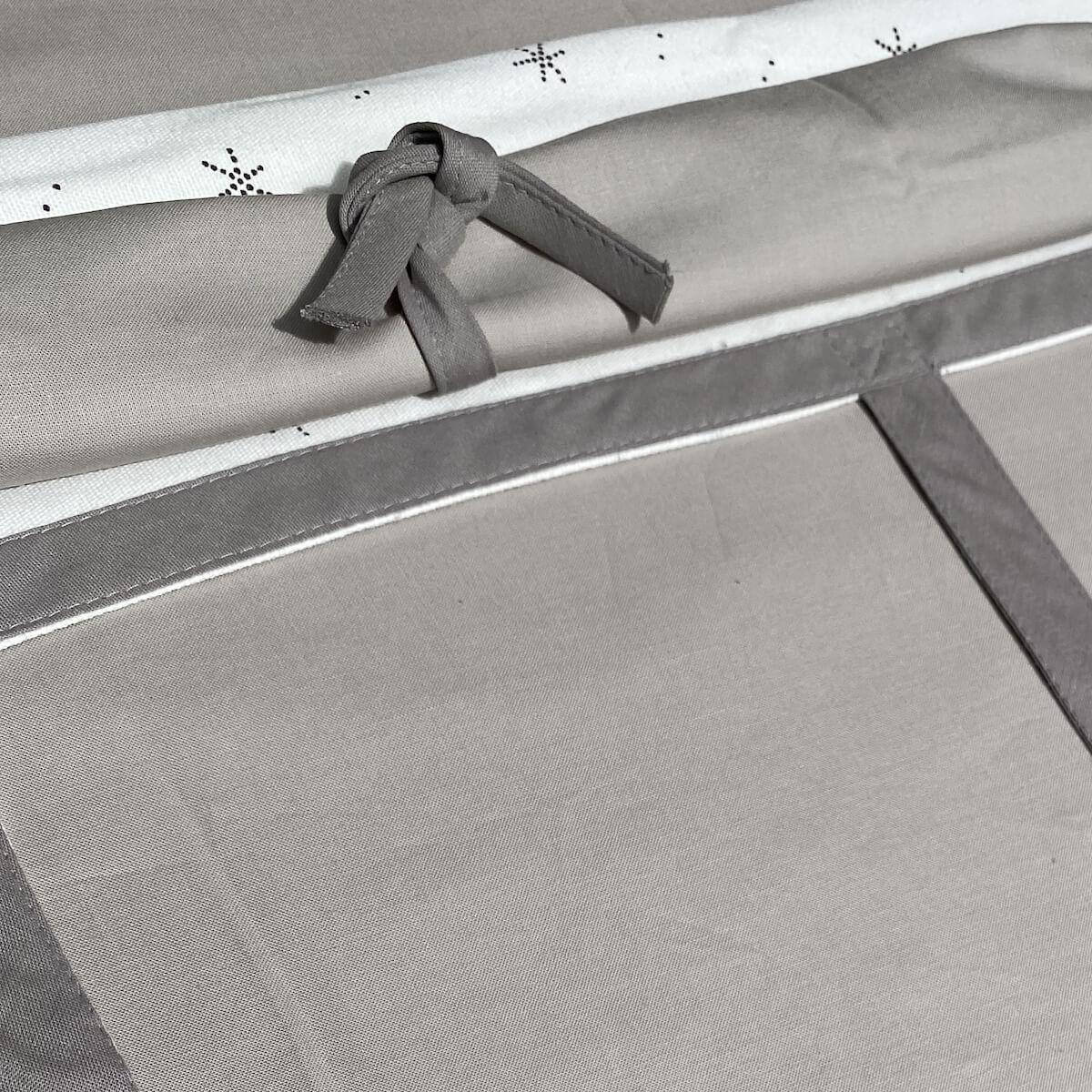 Hochbett KASVA mit Textilien Viena grey