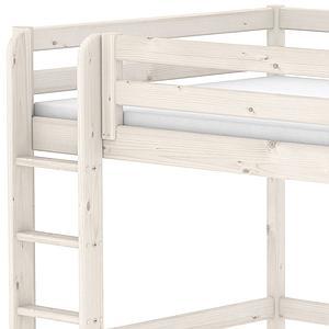 Hochbett mitwachsend 140x190cm CLASSIC Flexa gerade Leiter white wash