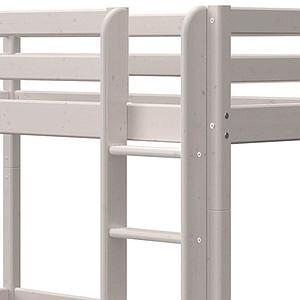 Hochbett XL 90x190cm gerade Leiter CLASSIC Flexa grey washed