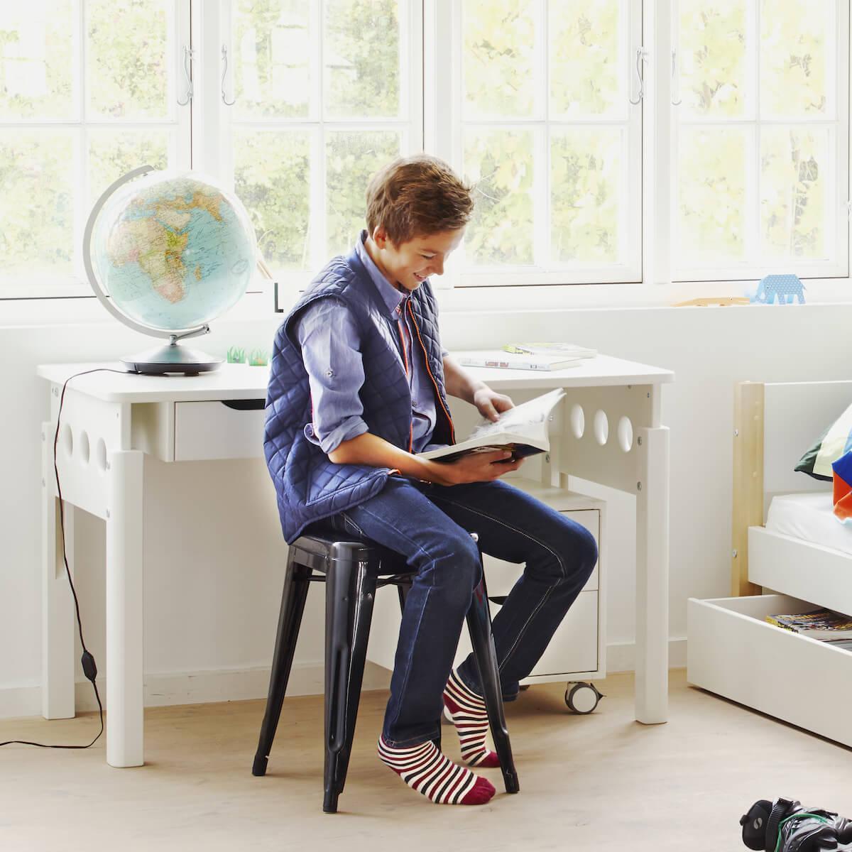 Höhenverstellbarer Schreibtisch WHITE by Flexa weiß-weiß