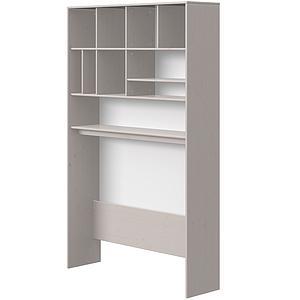 Hoher Schreibtisch-Überbau 126x203cm CLASSIC Flexa grey washed