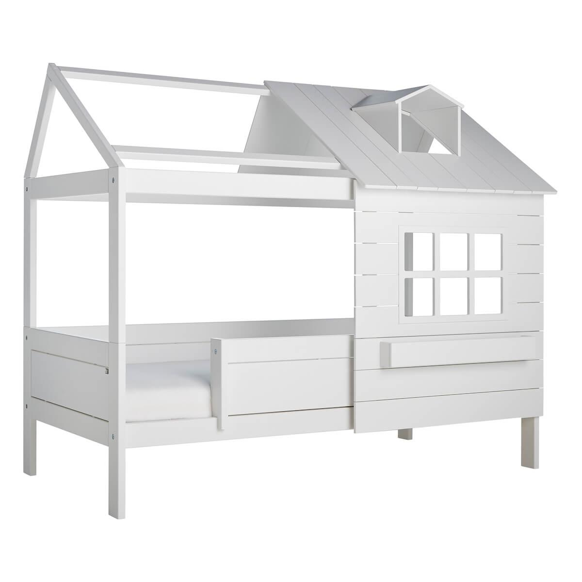 Hüttenbett 90x200cm LAKE HOUSE 1 Lifetime weiß