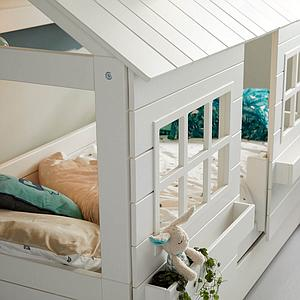 Hüttenbett 90x200cm LAKE HOUSE 2 Lifetime weiß
