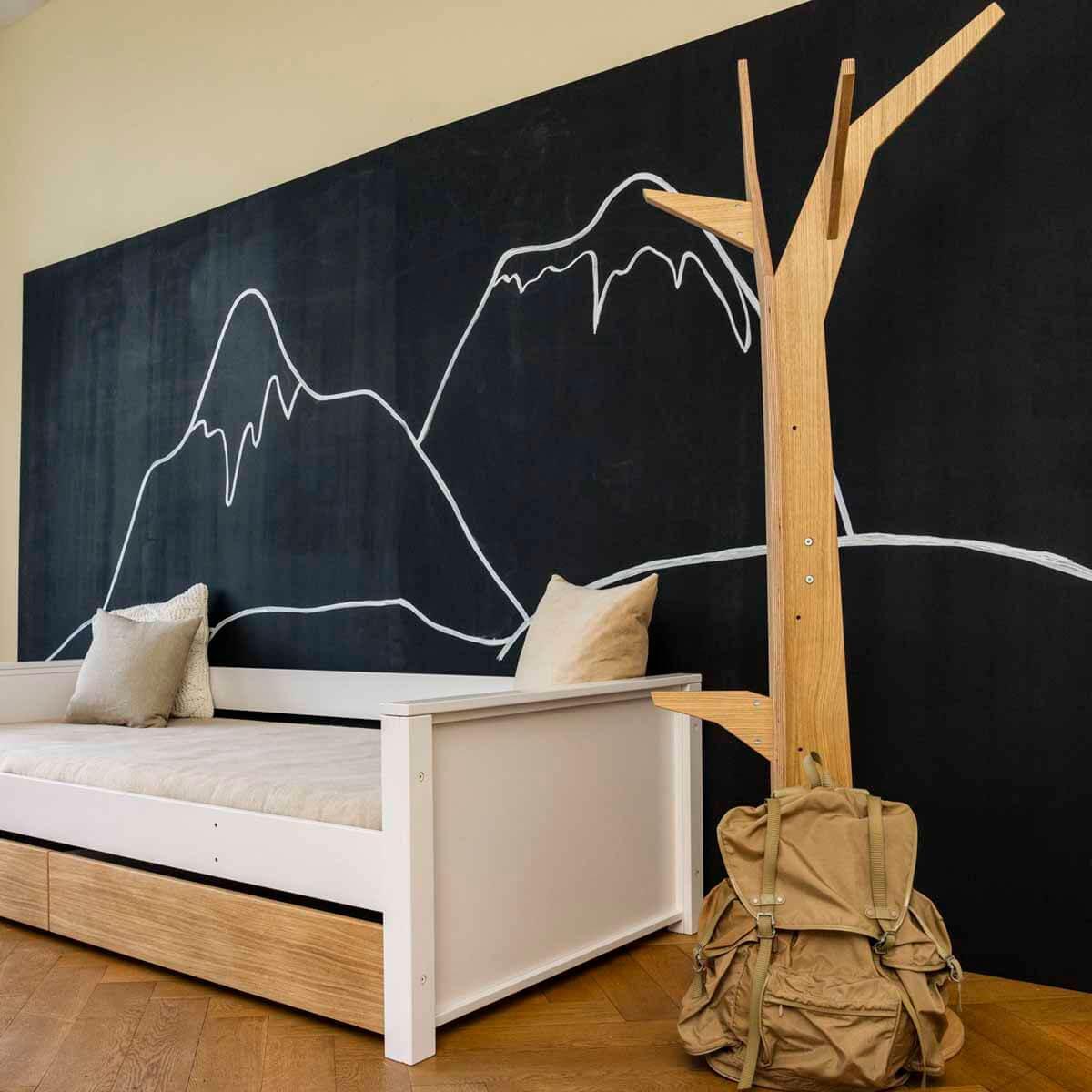 Jugendliege-Baum Eiche KASVA Buche massiv weiß-lackiert