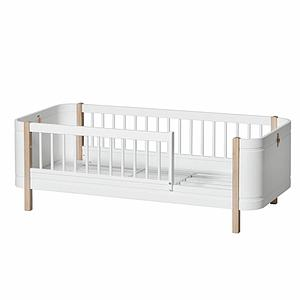 Juniorbett 68x162cm MINI+ Oliver Furniture Weiß-Eiche