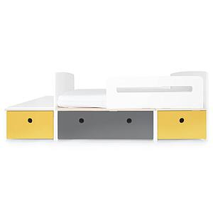 Juniorbett mitwachsend 90x150/200cm COLORFLEX nectar yellow-space grey-nectar yellow