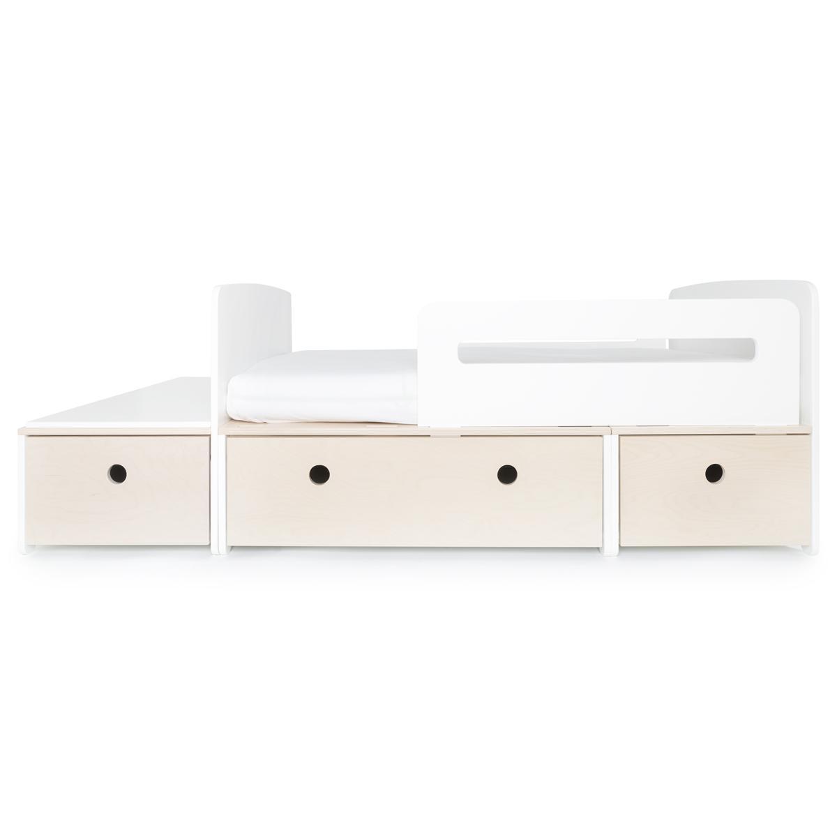 Juniorbett mitwachsend 90x150/200cm COLORFLEX white wash