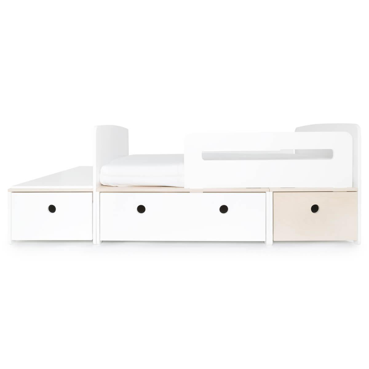 Juniorbett mitwachsend 90x150/200cm COLORFLEX white-white-white wash