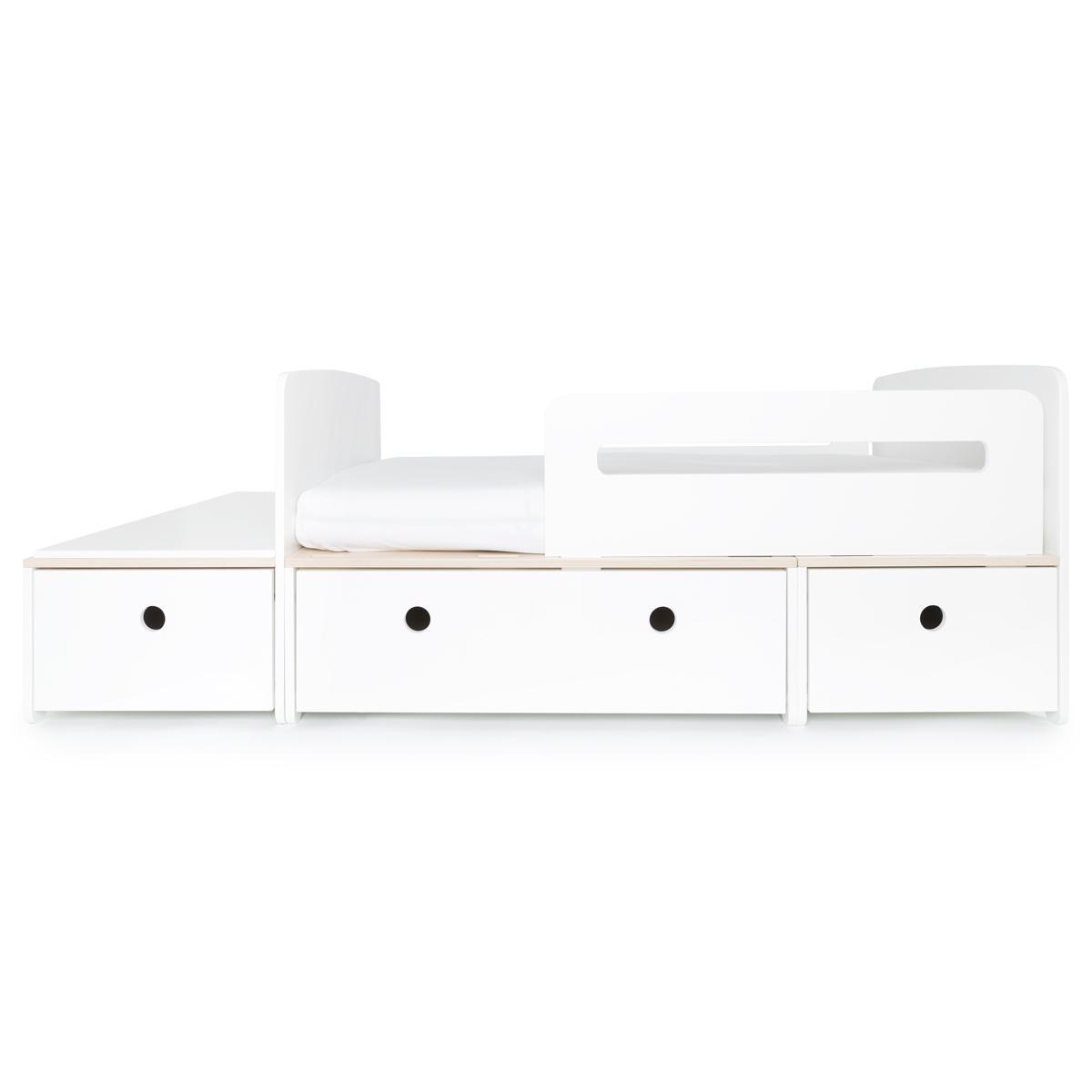 Juniorbett mitwachsend 90x150/200cm COLORFLEX white