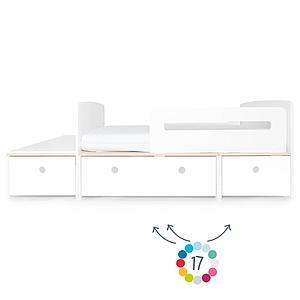 Juniorbett mitwachsend 90x150/200cm ohne Frontschubladen COLORFLEX
