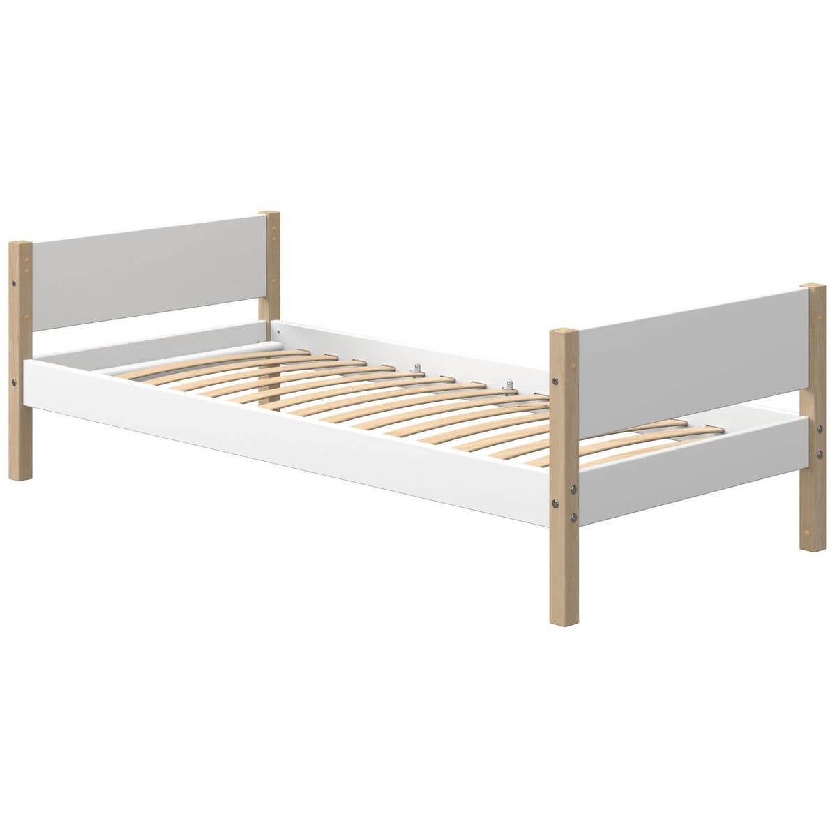 Kinderbett 200x90cm NOR Flexa Eiche-weiß
