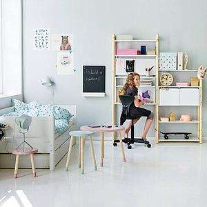 Kinderbett 90x190cm Ausziehbett WHITE Flexa weiß