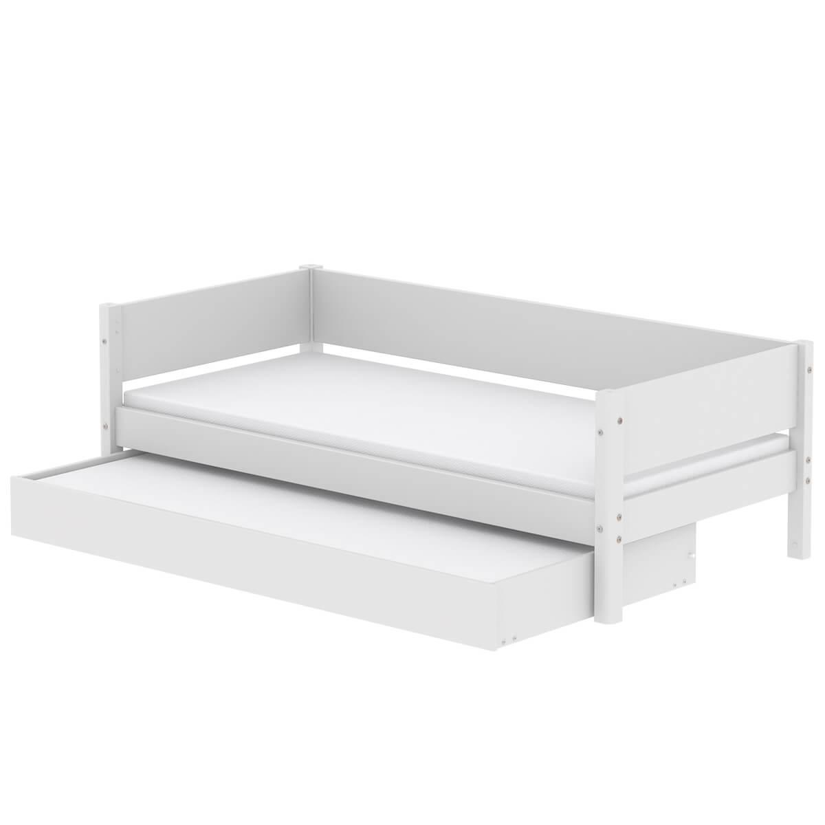Kinderbett 90x200cm Ausziehbett WHITE Flexa weiß