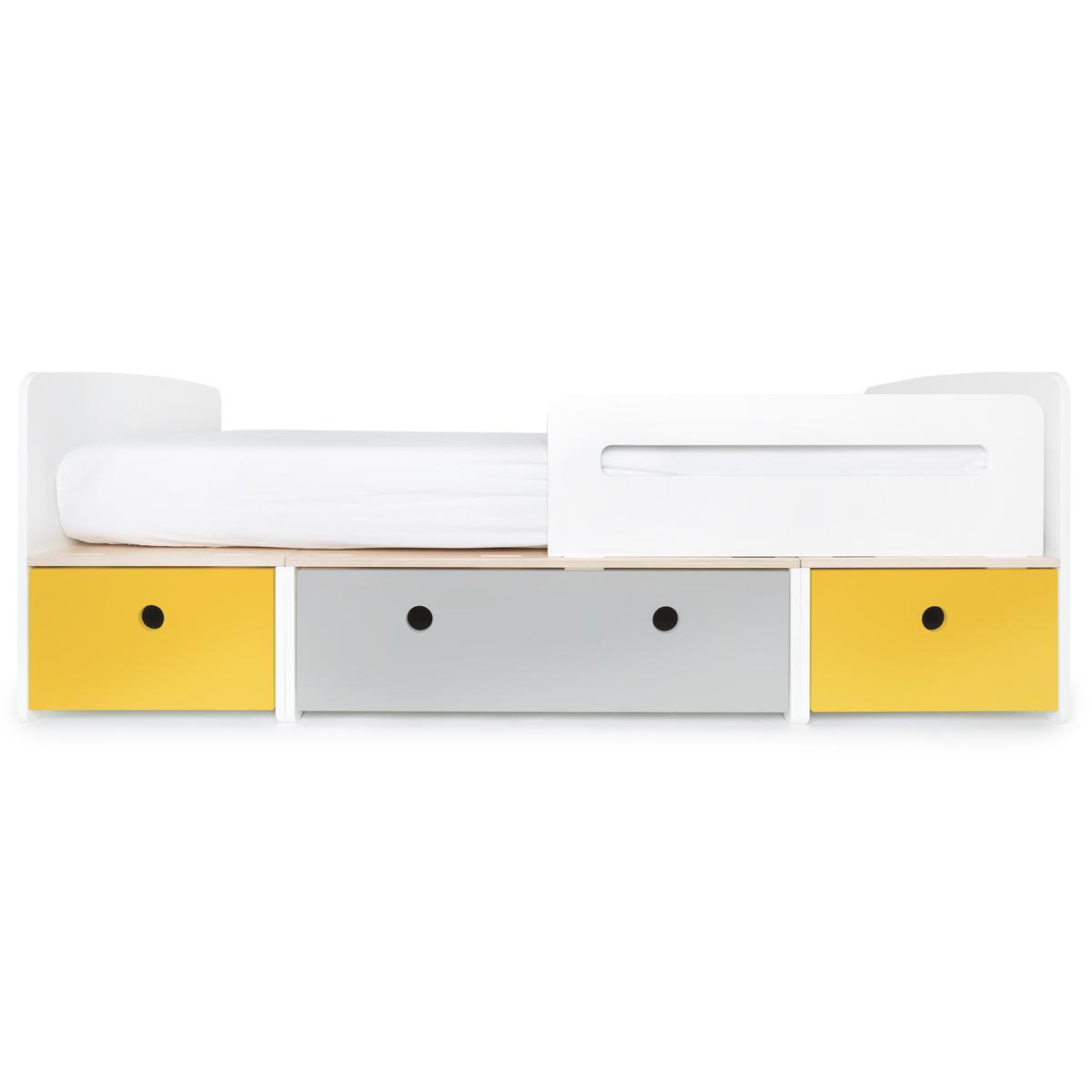 Kinderbett 90x200cm COLORFLEX Abitare Kids nectar yellow-pearl grey-nectar yellow
