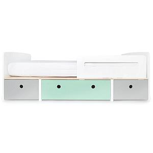 Kinderbett 90x200cm COLORFLEX Abitare Kids pearl grey-mint-pearl grey
