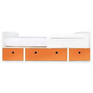 Kinderbett 90x200cm COLORFLEX Abitare Kids pure orange