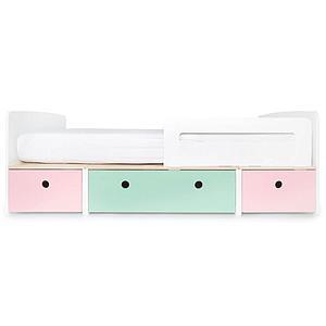 Kinderbett 90x200cm COLORFLEX Abitare Kids sweet pink-mint-sweet pink