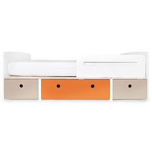 Kinderbett 90x200cm COLORFLEX Abitare Kids warm grey-pure orange-warm grey