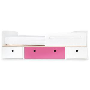 Kinderbett 90x200cm COLORFLEX Abitare Kids white-pink-white