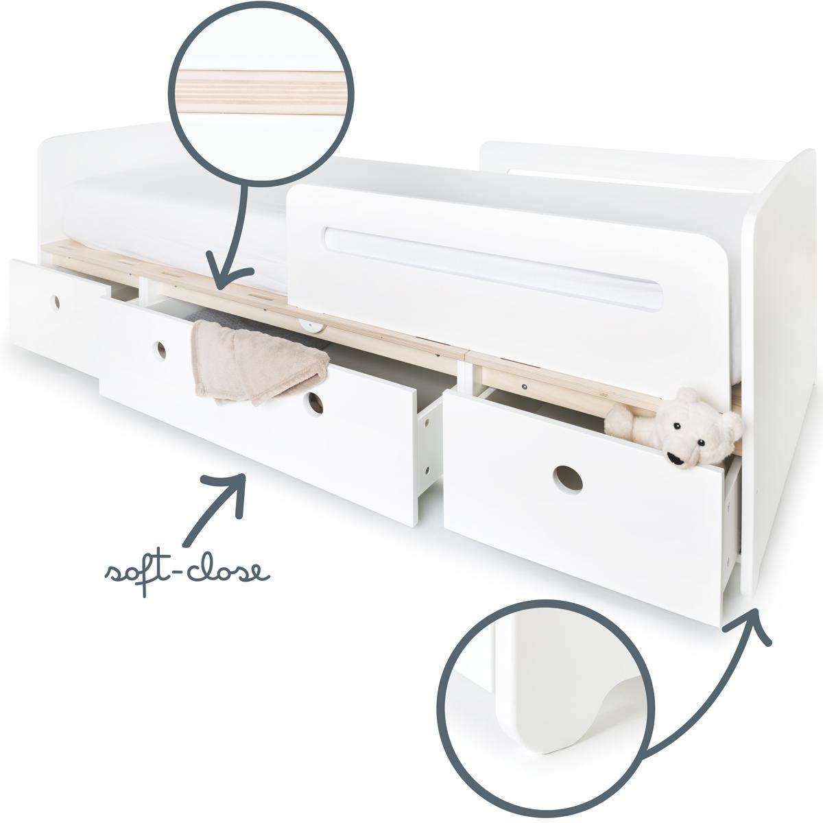 Kinderbett 90x200cm COLORFLEX façades white