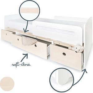 Kinderbett 90x200cm COLORFLEX Fronten white wash