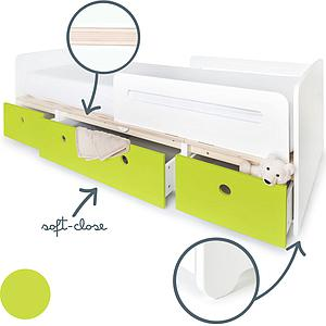 Kinderbett 90x200cm COLORFLEX lime