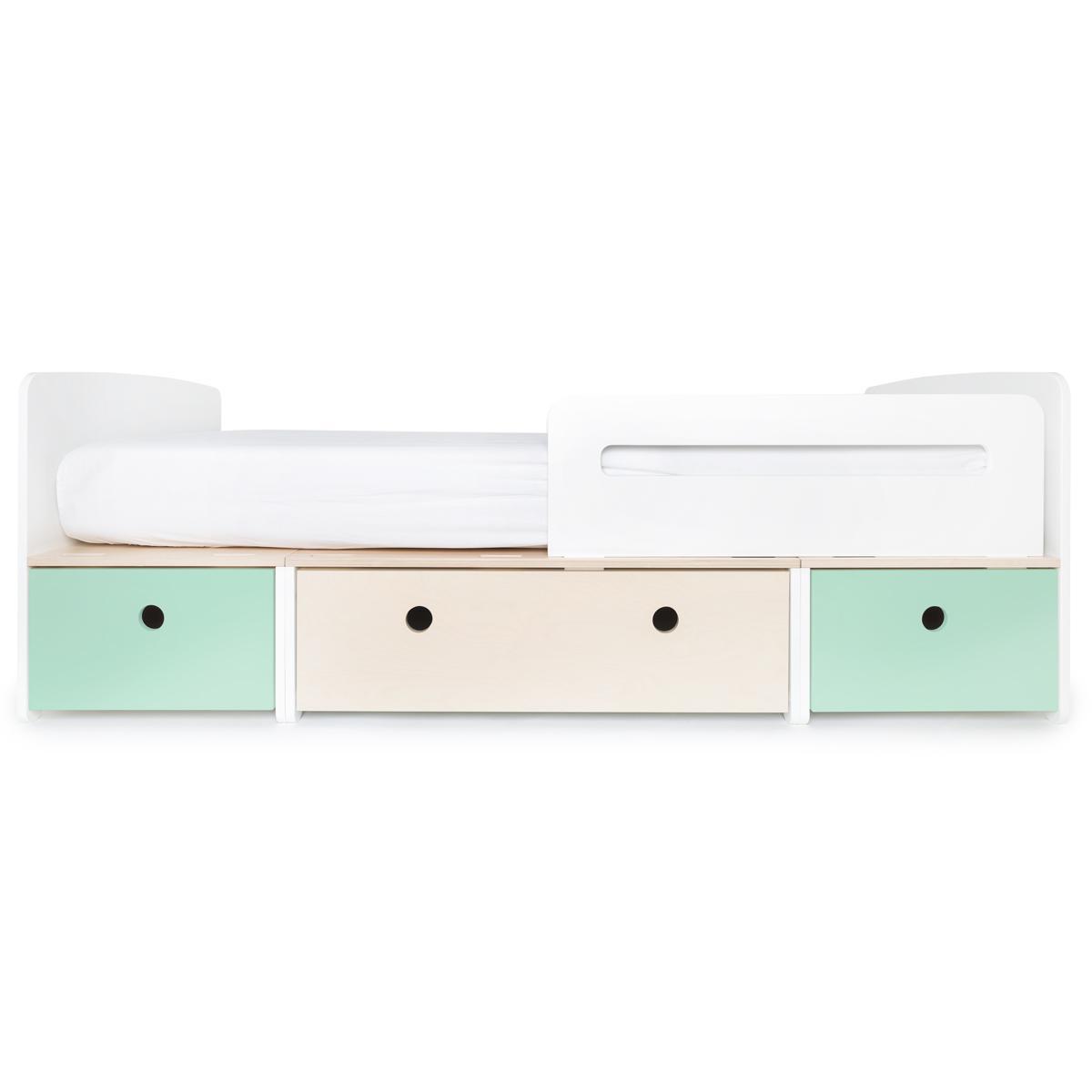 Kinderbett 90x200cm COLORFLEX mint-white wash-mint
