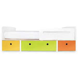 Kinderbett 90x200cm COLORFLEX nectar yellow-lime-pure orange
