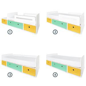 Kinderbett 90x200cm COLORFLEX nectar yellow-sea foam-nectar yellow