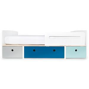 Kinderbett 90x200cm COLORFLEX pearl grey-deep marine-sky blue