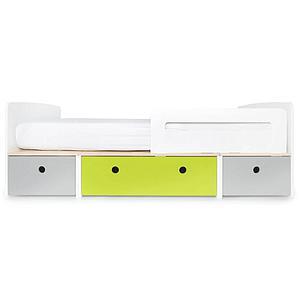 Kinderbett 90x200cm COLORFLEX pearl grey-lime-pearl grey