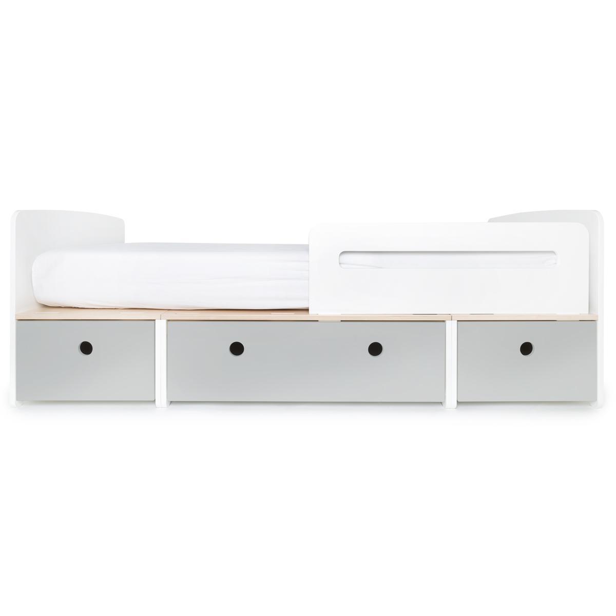 Kinderbett 90x200cm COLORFLEX pearl grey