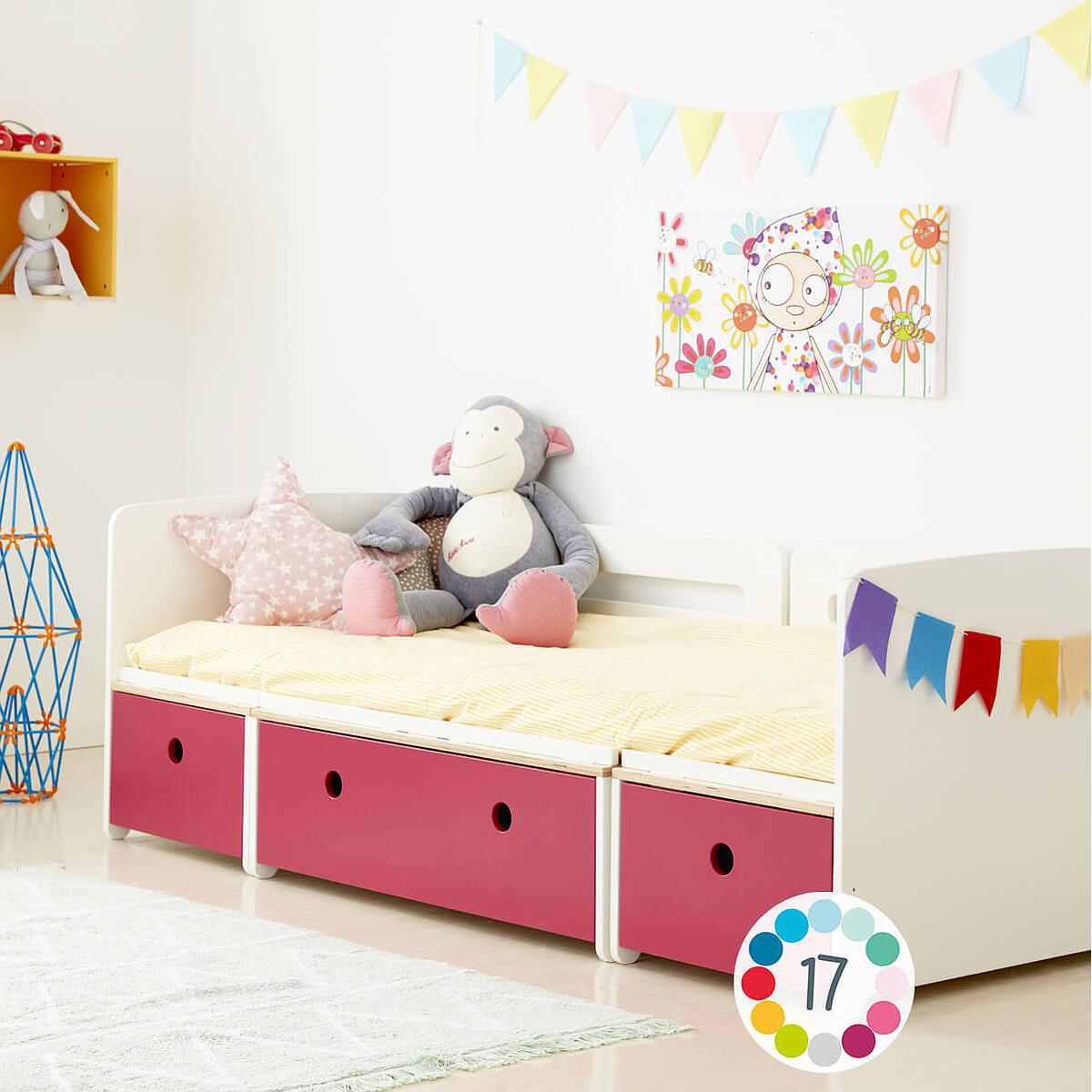 Kinderbett 90x200cm COLORFLEX pink