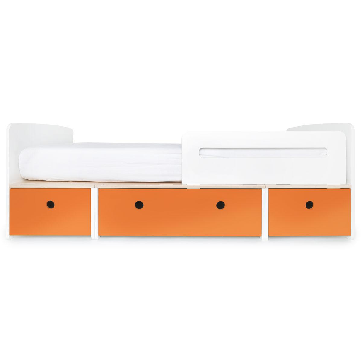 Kinderbett 90x200cm COLORFLEX pure orange