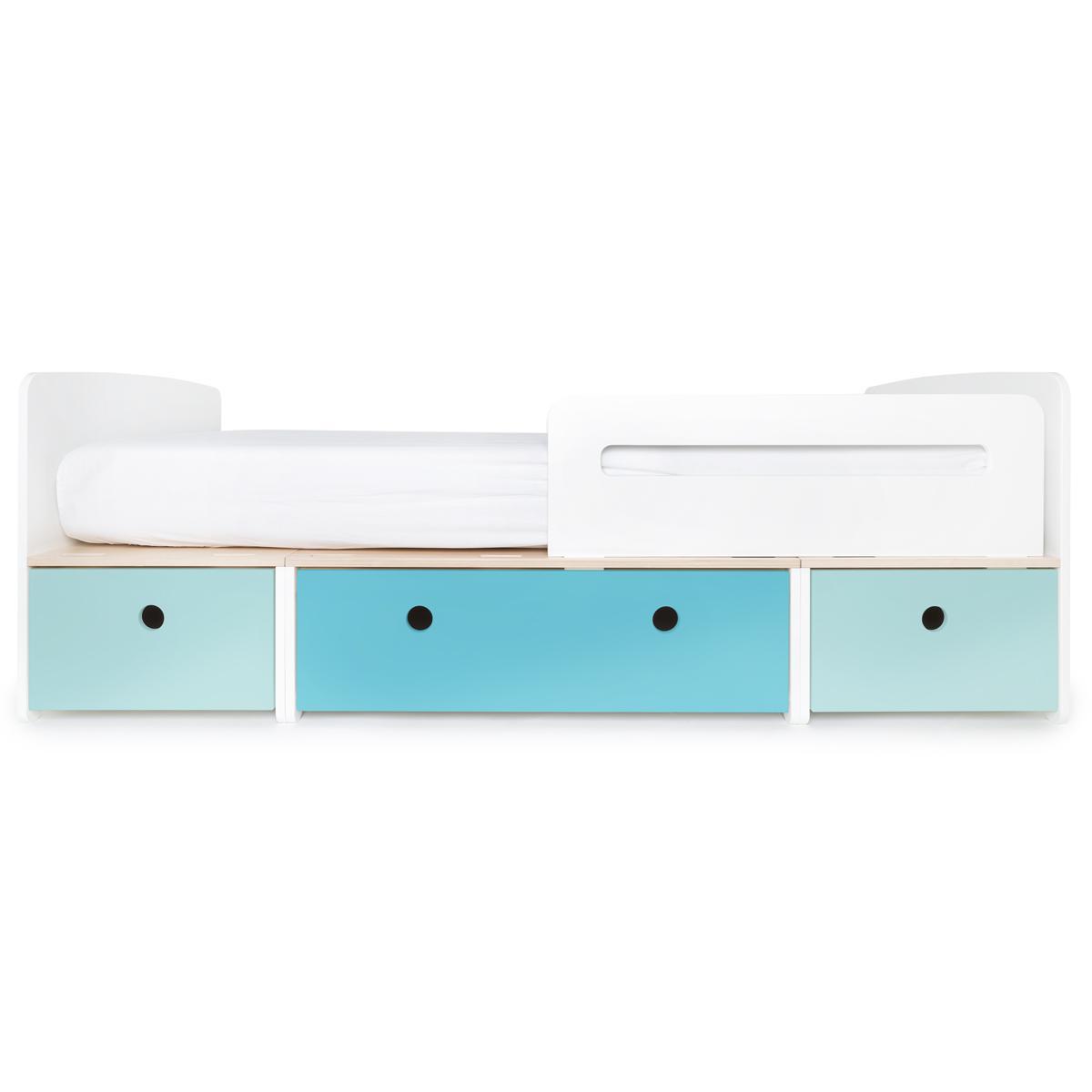 Kinderbett 90x200cm COLORFLEX sky blue-paradise blue-sky blue