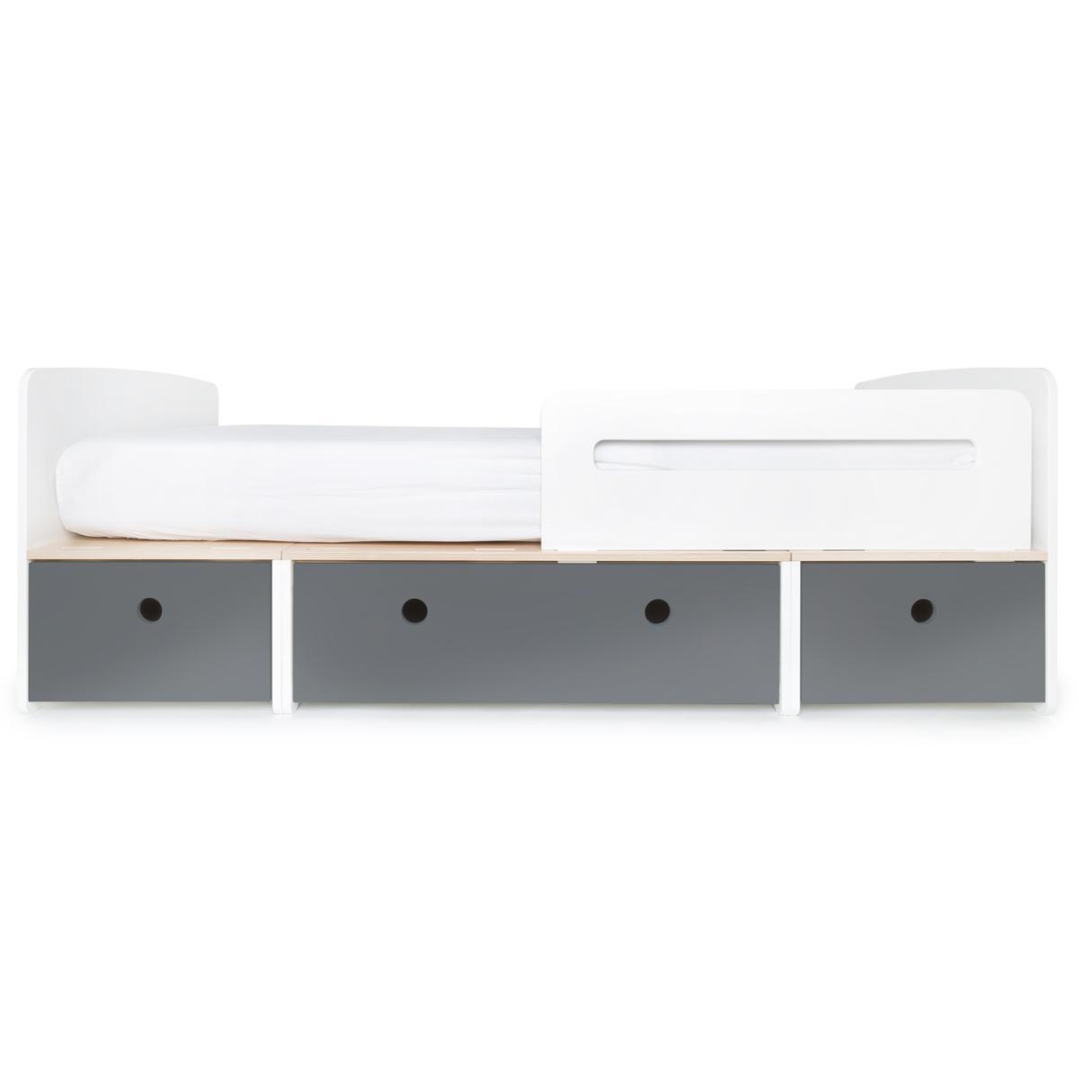 Kinderbett 90x200cm COLORFLEX space grey