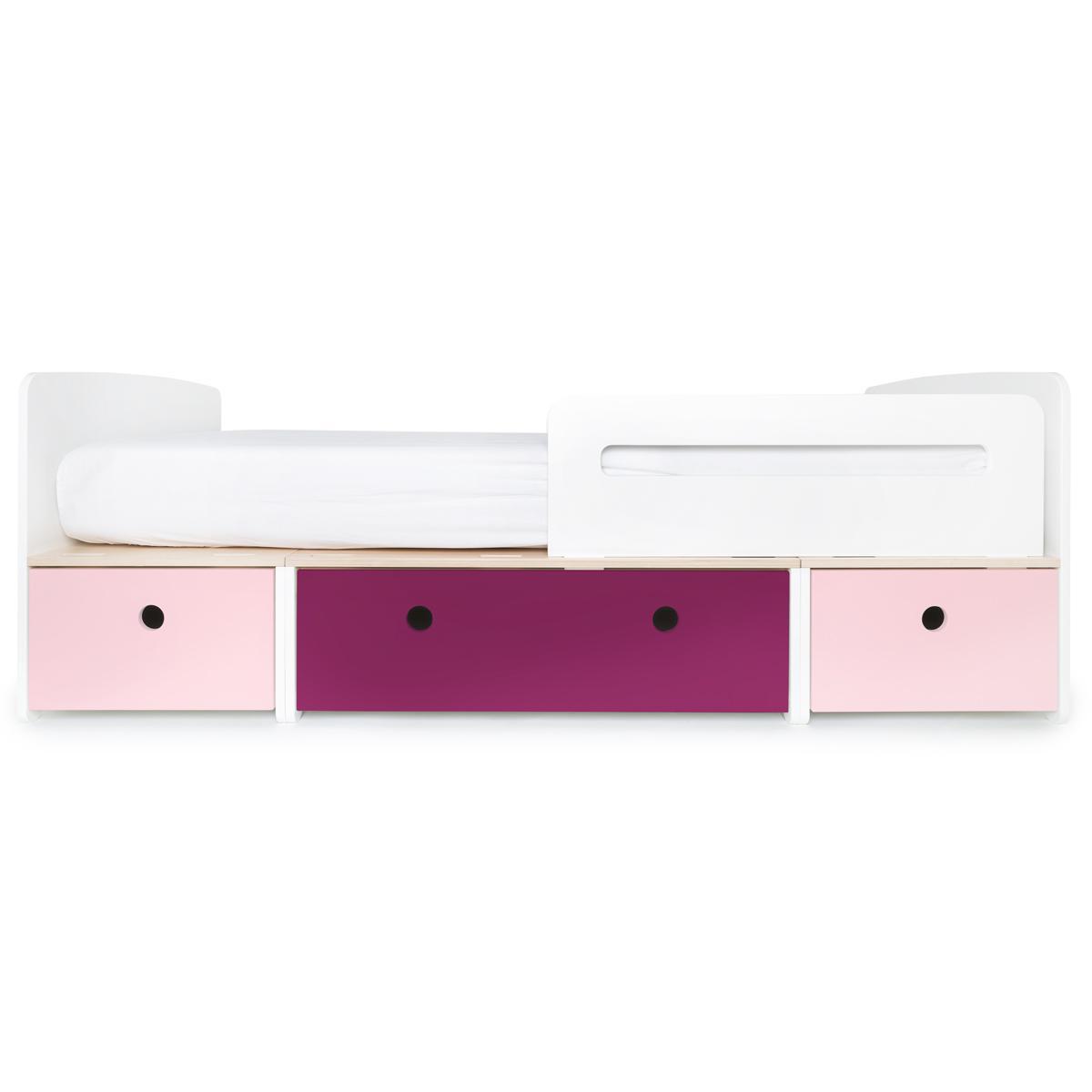 Kinderbett 90x200cm COLORFLEX sweet pink-plum-sweet pink