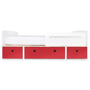 Kinderbett 90x200cm COLORFLEX true red