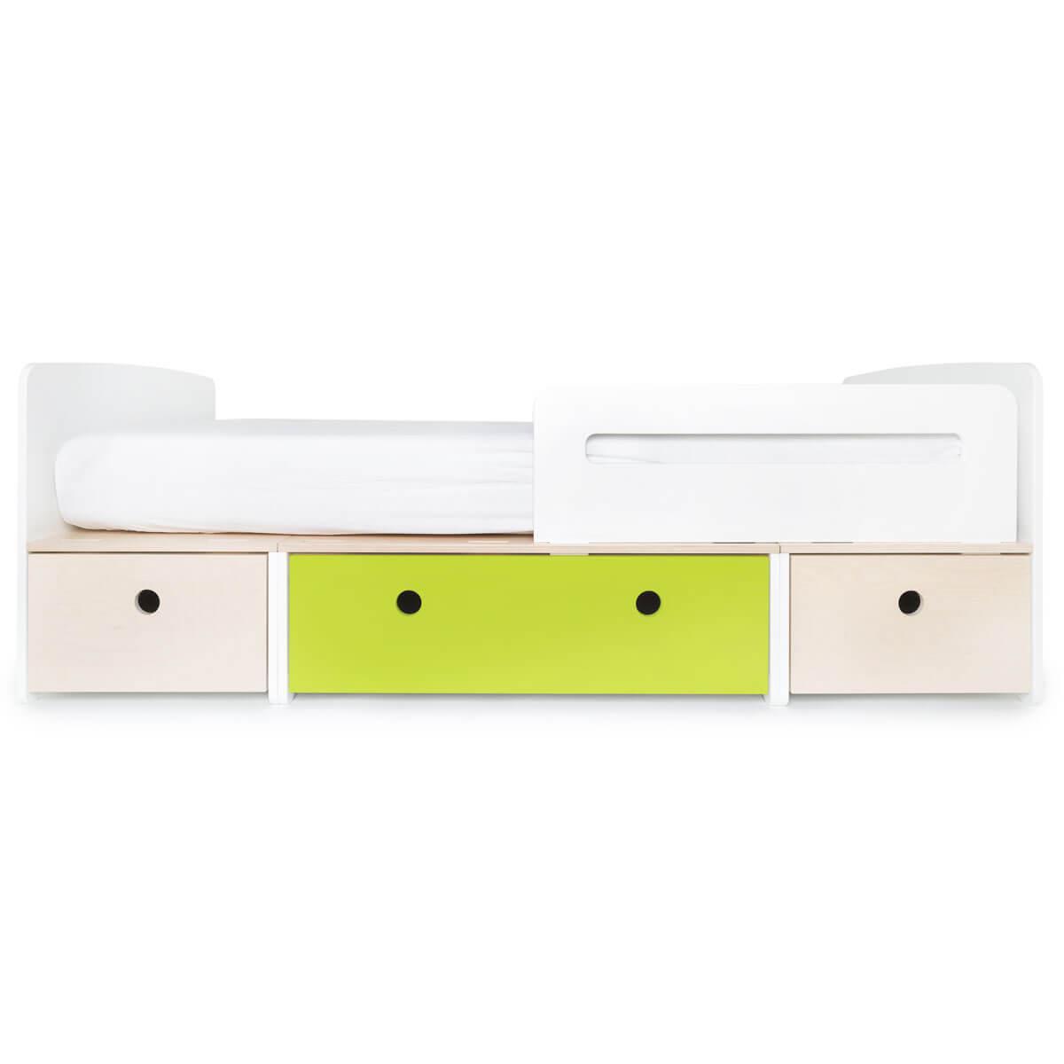 Kinderbett 90x200cm COLORFLEX white wash-lime-white wash