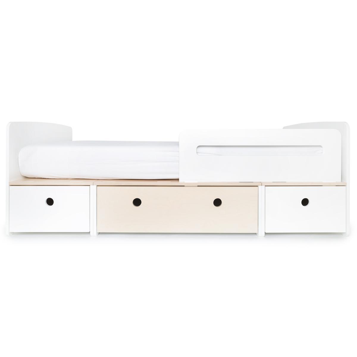 Kinderbett 90x200cm COLORFLEX white-white wash-white