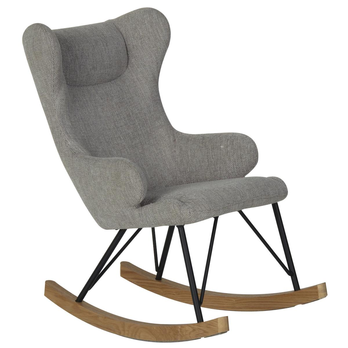 Kinderschaukelstuhl DE LUXE Quax sand grey
